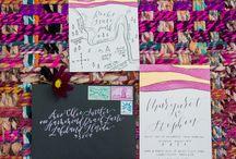 Happy Tines Custom Wedding Invitations / Custom Wedding Stationery: wedding invitations, envelope calligraphy, illustrated maps & more by Happy Tines