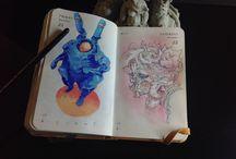 Artbooks , skethbooks