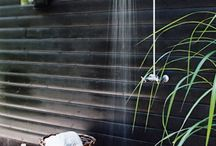 Outdoor shower / by Mona Bowen