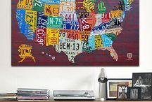 Etsy License Plate Art