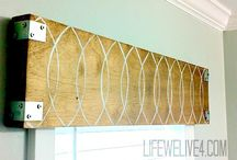 Rustic wooden valance