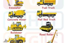 Diggers, Excavators, Trucks, Construction for TODDLERS