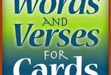 Words and Verses cards