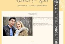 Wedding Websites / Wedding Websites - Lot's of folks these days like creating their very own free wedding website to mark the big day with friends and family. You can make free wedding websites and pick from 1000's of designs, then share the newly made personalized wedding website with your guests! It's never been easier! these are some wedding website examples you can see out there.