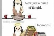 fangirling.—