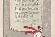 Inside Christmas cards