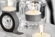 Borddekorasjoner og blomsterdekorasjoner til bryllupet / Gjør bryllupsbordet festfint med disse fine dekorasjonene!