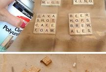 scrabble tile crafts / by Betsey Krohn