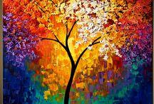 peinture fleus