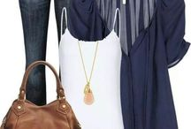 Navy blue outfits