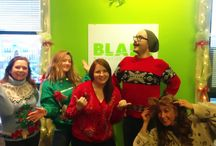 Blade Ugly Christmas Sweaters 2014! / The most festive of the Blade Creative Branding team put on their ugliest Christmas sweaters to celebrate the season!  / by Blade Branding