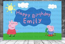 Peppa Pig Printable Party Backdrop