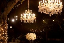 Wedding Chandeliers / Nisie's Enchanted Florist decks the room with timeless and elegant chandeliers