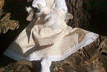 Lize's long leg dolls / Handmade fabric dolls, decor dolls.