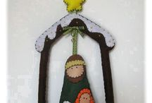 Karácsonyi portékáim - Christmas (my works) / https://www.facebook.com/bellestidesign/  #christmas #natal #karácsony #ornaments #felt