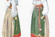 Sweden- Orsa, Dalarna / Folkdräkt och folkliga textilier från Orsa, i Dalarna. Traditional clothing and textiles from Orsa, in the Swedish province Dalecarlia.