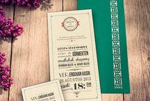 wedding invitatiton / Düğün davetiyeleri / Düğün sezonu çoktan açıldı! Davetiye tasarımlarımızın devamı çok yakında!
