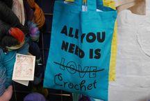 Crochet project bags