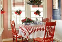 Something for our Christmas at home / Ideas for decorating at Christmas, red, white and blue theme, Nordic/Scandinavian...