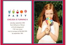 Dessert Birthday Party Invitations