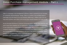 Odoo Purchase management module - Part 1