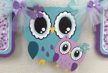 Owl party ideas / Owl themed cards and party supplies
