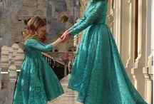 мама/дочь платья