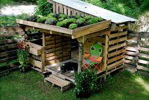 barn trädgård