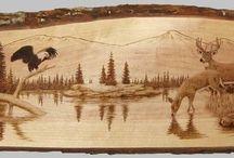 Wood burning patterns