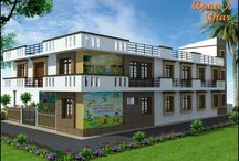 Institutional Design Solutions-School/Bank/commercial / Residential Building-Institutional Premise- 9 Classrooms, Entrance Passage, Garden /Play Ground,Big Activity Hall,Staff room with Washroom,Principal Office Cabin, Visitor's Sitting Lobby,Washroom For Students, Students entry from Back side...  / by ApnaGhar