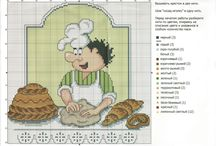Kucharczyk - obrazki haftowane