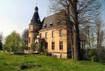 Wolbromów - Pałac / Pałac w Wolbromowie  Zespół pałacowy pochodzi z połowy XIX w. Sam pałac zbudowano około roku 1860. Założenie składa się z pałacu, ogrodu i ogromnego prostokątnego dziedzińca wokół którego wzniesione są zabudowania folwarczne. Całość ogrodzona jest żeliwnym płotem na ceglanej podmurówce.  Właścicielem obiektu jest niemiecki Serb. Człowiek sympatyczny i otwarty na zaspokojenie ciekawości zwiedzających. Niestety do środka obiektu nie wpuszcza (tam mieszka).