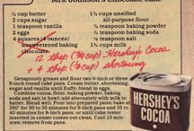 Vintage recipes / Older recipes
