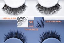 HUMAN HAIR EYELASHES / Check out this board for the best of HUMAN HAIR EYELASHES tips and ideas, and the differences between human hair and Siberian mink  lashes for the thickness, texture, and natural look you desire!