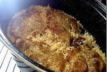 Μπριζολες με ρυζι στη γαστρα