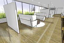 BGV / Ziel der Innenarchitektur dieses Projektes war es, eine klare Farbgebung und Wohlfühlnischen für die Mitarbeiter
