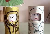 Kids | Arts & Crafts | Toilet Rolls / Recycling at its best! / by Me, The Man & The Baby