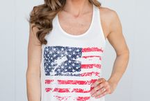 Red, White, & Blue! / Americana styles for Memorial Day and the 4th.