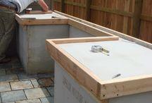 Concrete bench tops