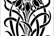 fekete-fehér virág
