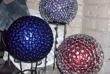 gazing ball ideas
