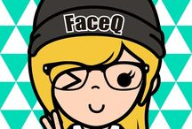Face Q / Face Q is a me in a carton version
