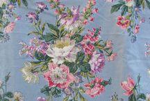 Vintage Sanderson English Floral Print Fabric