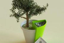 GREEN flowerpots&vase
