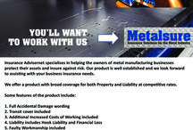 Products / Metalsure - Insurance for the Metal Industry