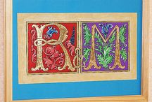 Letters-Illumination-Gilding-Manuscripts / Prace własne w liternictwie, kaligrafii, pozłotnictwie Personal work, calligraphy, gilding, ornamentation, illumination