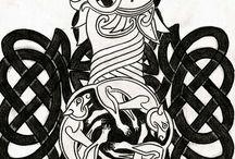 tetování Celtic lion