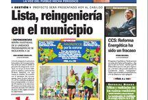 Portadas / Portada de la edición impresa de La Voz de Michoacán