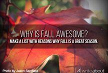 Writing Ideas: Seasonal