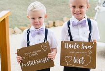 Kiddie Signs / Flower girl and page boy signs